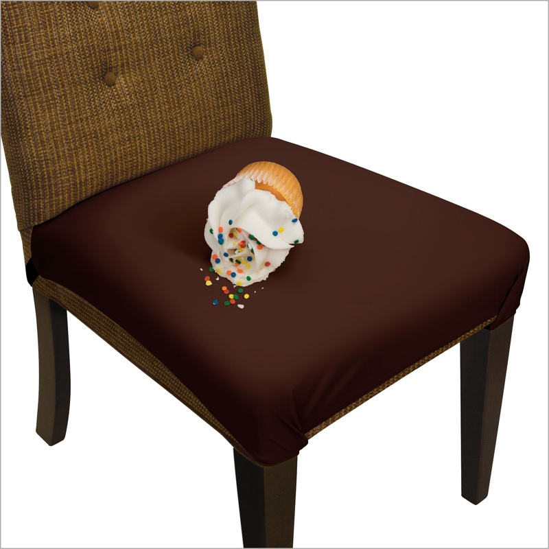 Picture of Chocolate Brown SmartSeat Dining Chair Protector