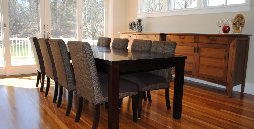 Wood Dining Room Brown Seat Covers